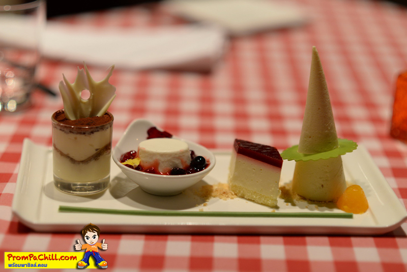 ขนมหวานอิตาเลียน GRAND PLATTO DI DOLCI (Combination of Giorgio's dessert)